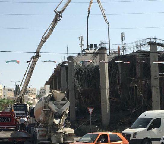 إصابات في انهيار سقف قيد الإنشاء(صور، فيديو)