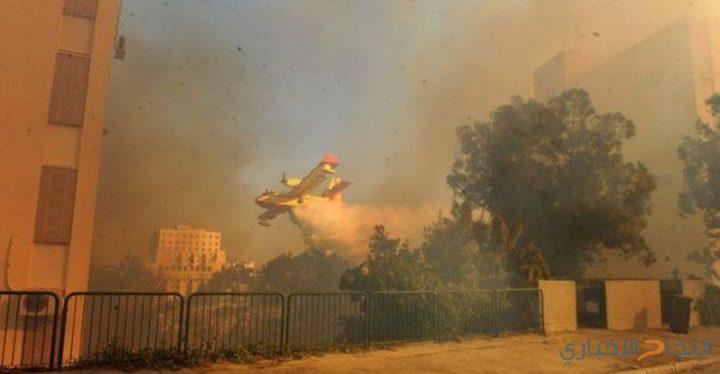 14حريقًا في المستوطنات المحيطة بقطاع غزة