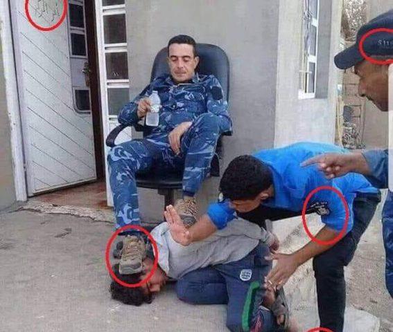 الشرطة تكشف حقيقة صورة ضابط داسَ على رأس طفل