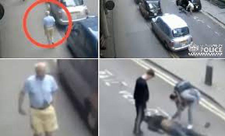 شاهد كيف ضرب سائق التاكسي راكباً في لندن