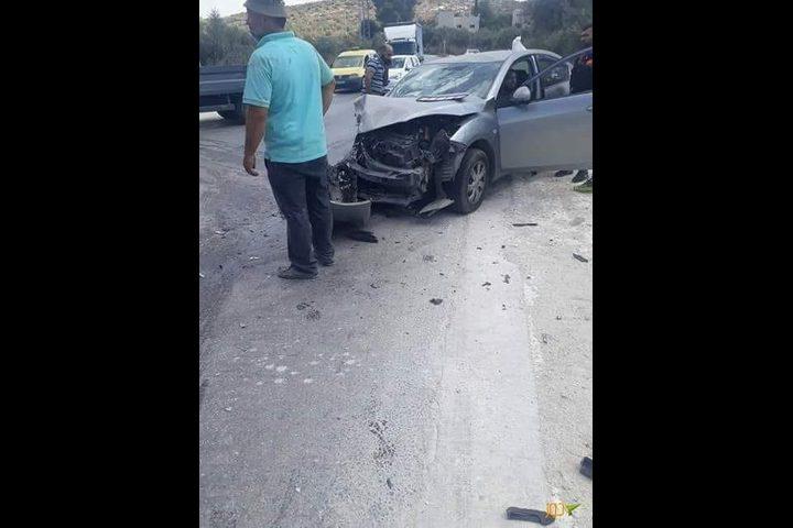 مصرع مواطنة بحادث سير جنوب غرب نابلس