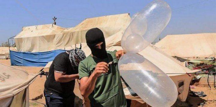 لأول مرة: البالونات الحارقة تصل بئر السبع