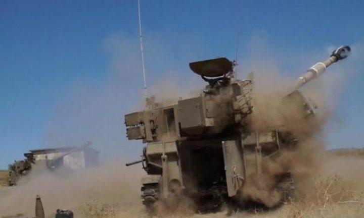 إسرائيل تكشف عن قصف مدفعي واسع لسورية