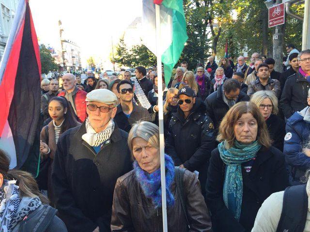 احتجاج في أوسلو رفضا لاحتجاز الاحتلال لنشطاء