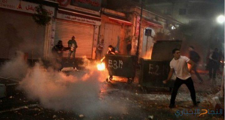 اصابات بالاختناق خلال مواجهات مع الاحتلال بسبسطية