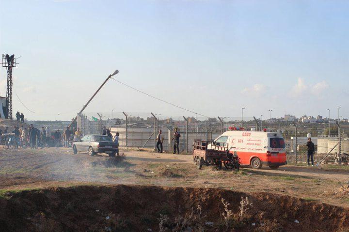 اصابة مواطن برصاص الاحتلال شرق غزة
