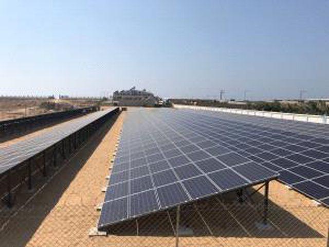 غزة:الاتحاد الأوروبي يُشَغِّل أكبر حقل طاقة شمسية