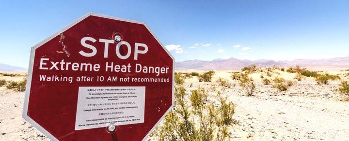 وادي الموت يسجل أعلى درجة حرارة