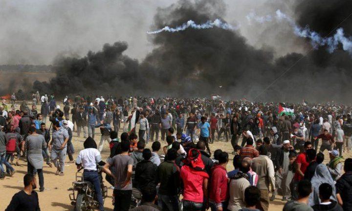 استشهاد مواطن برصاص الاحتلال واصابة 120 شرق غزة