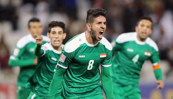 المنتخب العراقي يصل فلسطين
