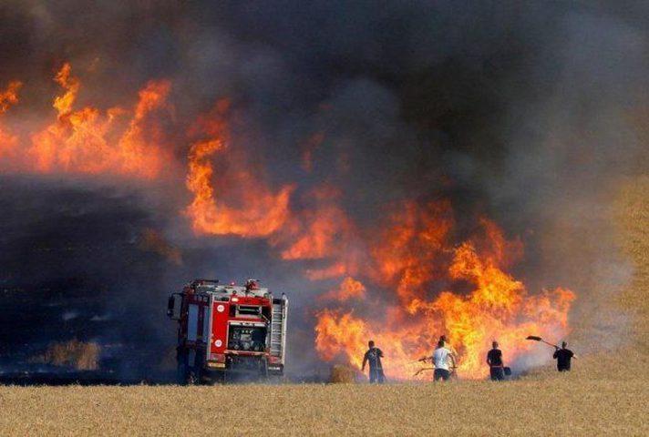 """اندلاع حريق في مستوطنة """"زيكيم"""""""