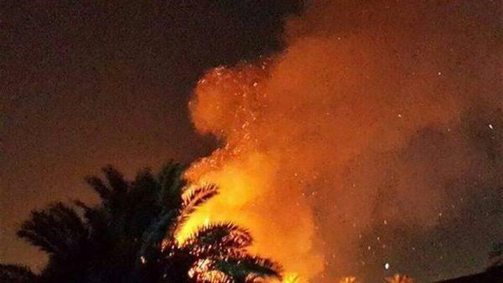 """اندلاع حريق كبير بمستوطنة """"كيسوفيم"""" شرق خانيونس"""