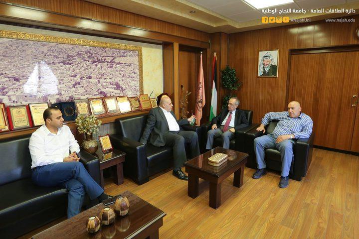 سفير فلسطين في الاتحاد الافريقي يزور جامعة النجاح