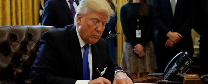 ترامب يوقع قرار معاقبة إيران