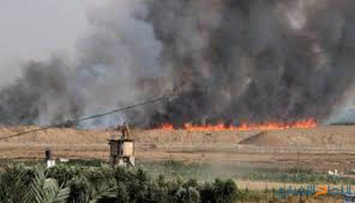"""إندلاع أربعة حرائق في """"غلاف"""" غزة منذ هذا الصباح"""