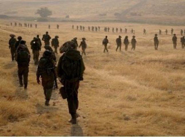 انتشار لقوات الاحتلال وتدريبات شرق جنين