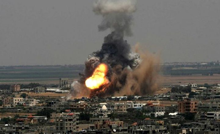 شهيدان بقصف اسرائيلي شمال قطاع غزة(فيديو)