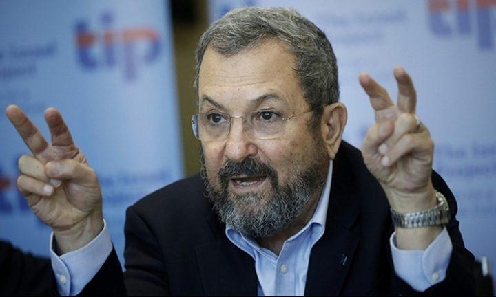 إيهود باراك: إلحاق الهزيمة بحماس يتطلب غزو غزة