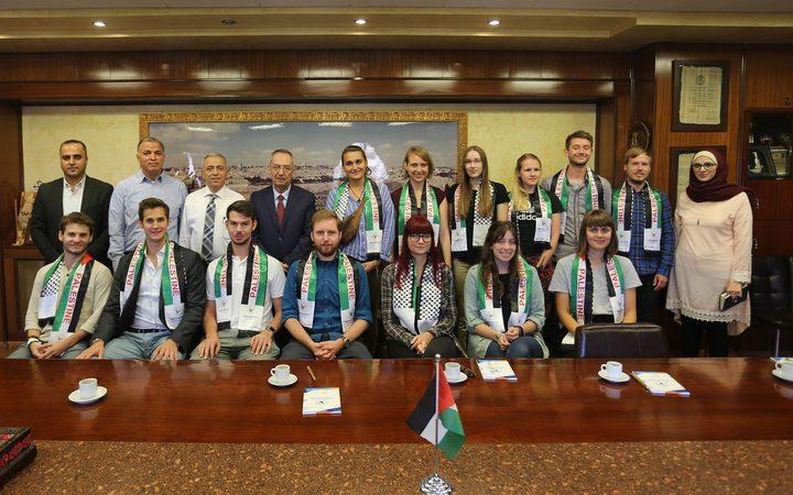 النجاح تستقبل مجموعة طلبة دوليين جدد من IAESTE