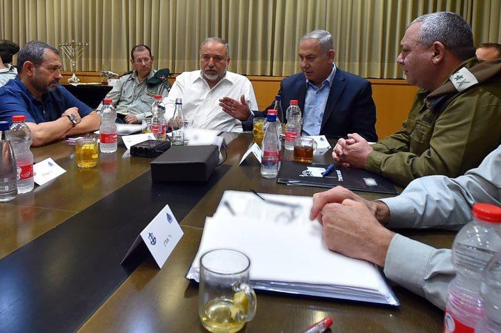 الكابينت يجتمع اليوم لبحث التصعيد على غزة