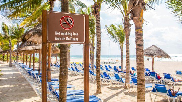 ما هي الدولة التي يمنع التدخين على شواطئها؟