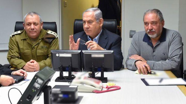 """""""نتنياهو"""" يمنع """"ليبرمان"""" من إعلان الحرب على غزة"""