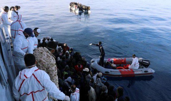 انقاذ 141 مهاجرا قبالة السواحل الليبية