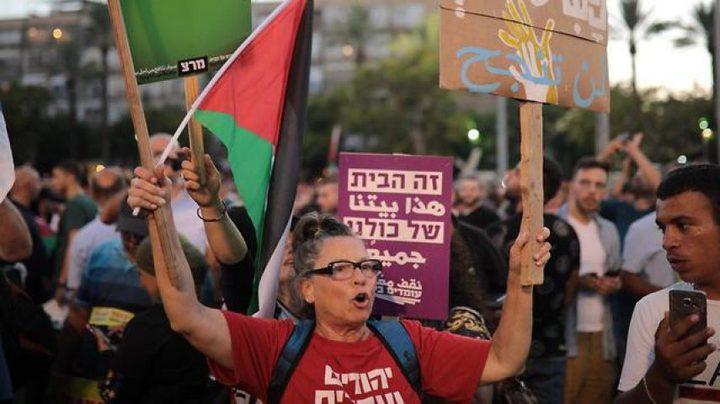 """فلسطينيو 48 يتظاهرون في """"تل أبيب"""" ضد قانون القومية"""