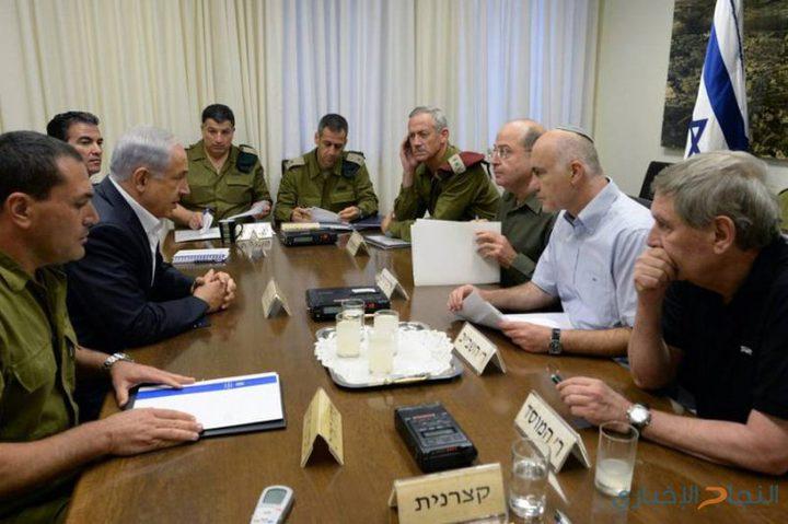 """خلافات حادة في اجتماع """"الكابينت"""" حول التطورات بغزة"""