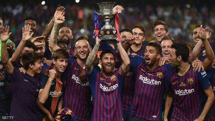 ميسي يتوج بأول ألقابه كقائد لبرشلونة