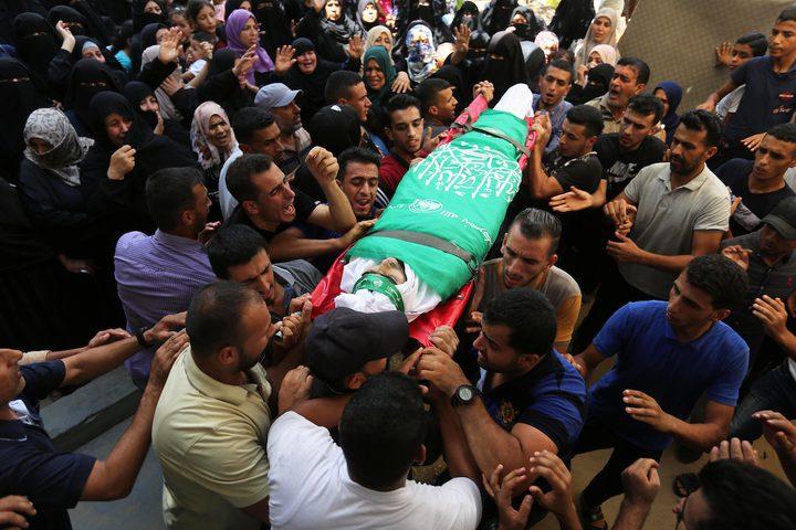 جثمان الشهيد وسام حجازي