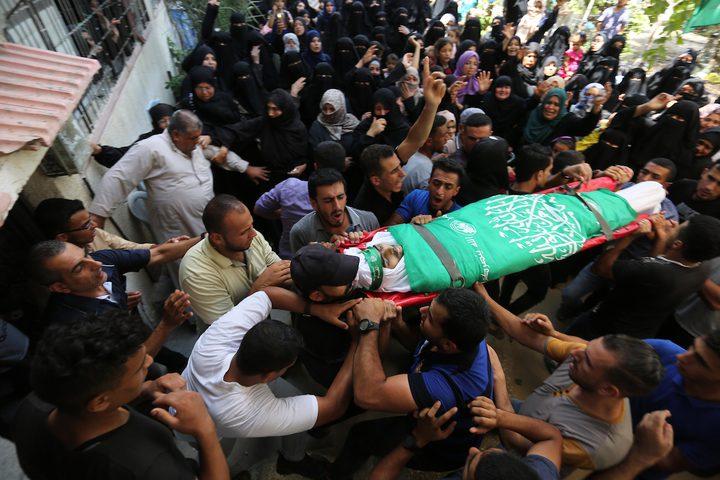 تشييع جثمان الشهيد وسام حجازي