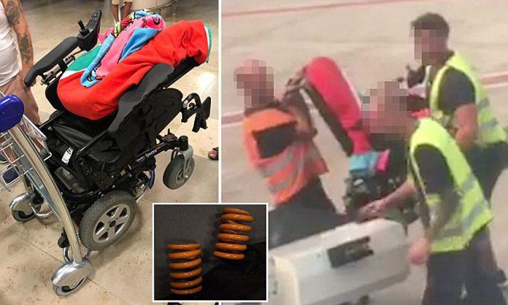 طاقم مطار يكسر الكرسي المتحرّك لشابة ويخفي الأمر