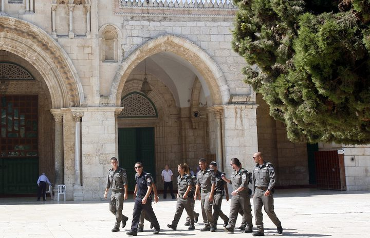 57 مستوطنا يقتحمون المسجد الأقصى
