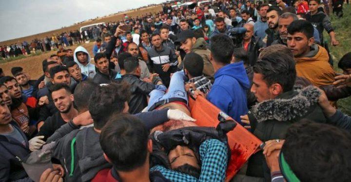 إصابة برصاص قوات الاحتلال قرب مخيم العودة شرق غزة