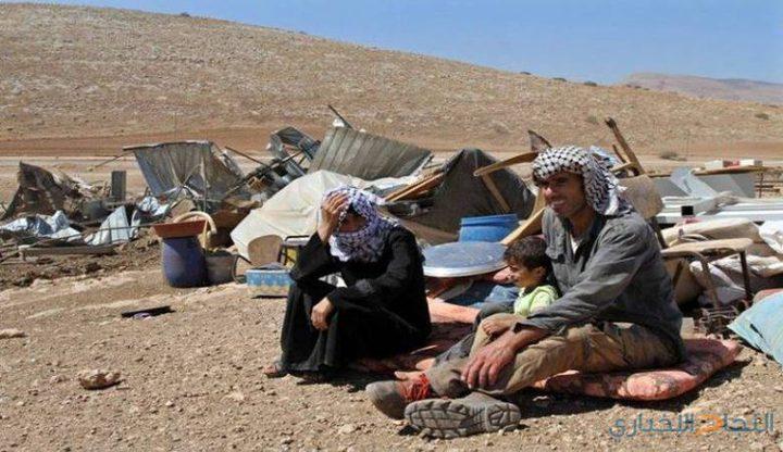 الاحتلال يوقف العمل في بركة زراعية بالأغوار