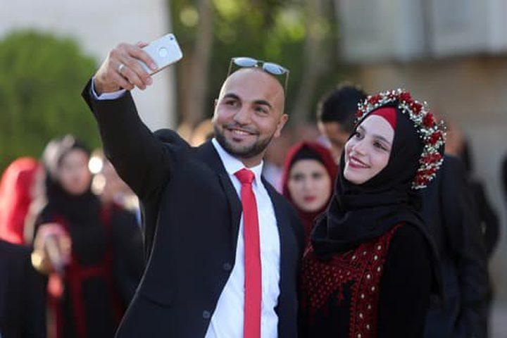 فرح جماعي لمئات العرسان في رام الله