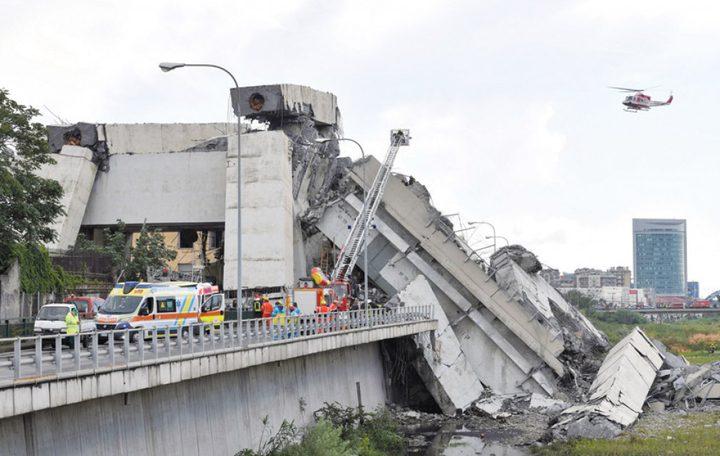 انتشال آخر ضحايا جسر جنوى المنهار في ايطاليا