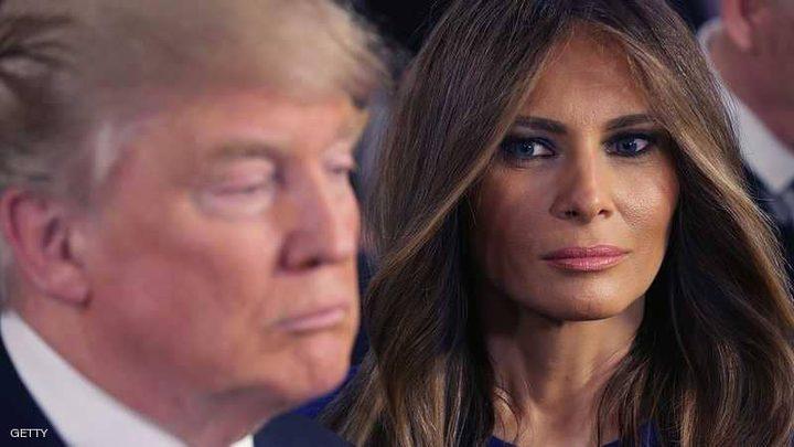"""""""مساحة تنافر"""" بين ترامب وزوجته"""