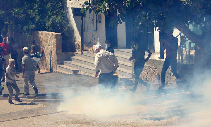 إصابات بالاختناق بقمع قوات الاحتلال لمسيرة بلعين