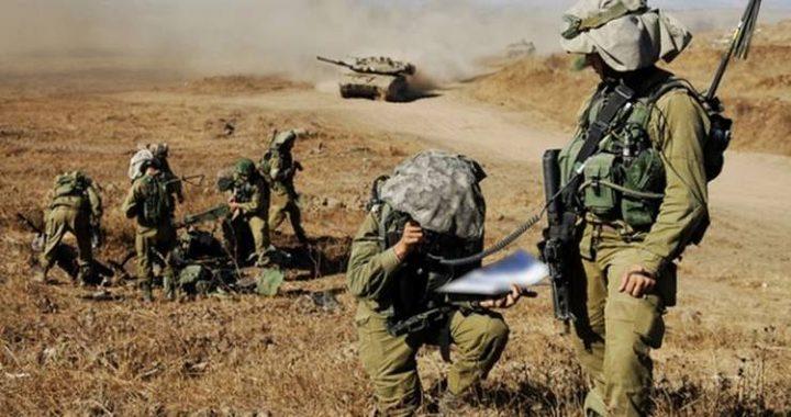 الاحتلال ينهي تدريباً يحاكي قتالاً ضد سوريا ولبنان