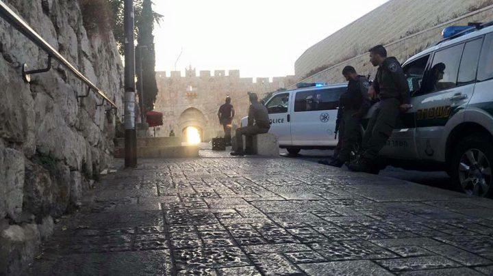 الاحتلال يغلق باب الأسباط بالقدس