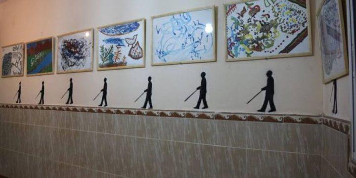 معرض فني لضعاف البصر والمكفوفين