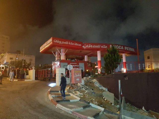 حريق في محطة للمحروقات