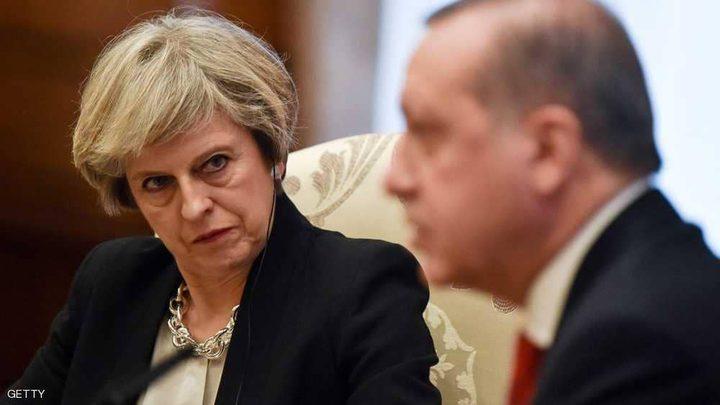 ماي تبحث وأردوغان الأزمة التركية والملف السوري