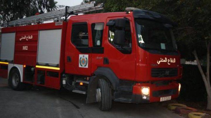 الدفاع المدني يخمد حريقا بمسجد في نابلس