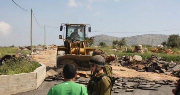 الاحتلال يستولي على جرافة غرب بيت لحم