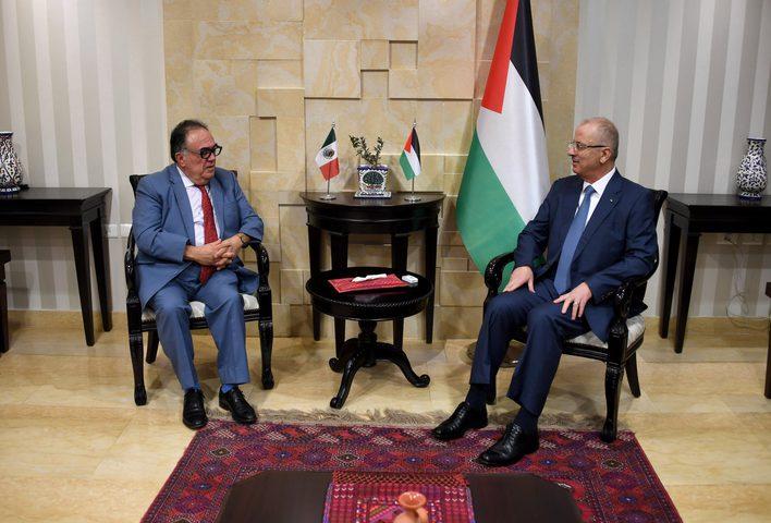 الحمد الله يستقبل ممثل المكسيك لدى فلسطين
