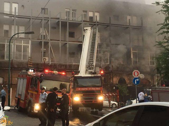 وفاة مواطن وزوجته إثر حريق شبّ بمنزلهما في يافا