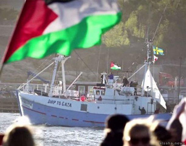 بحرية الإحتلال تهاجم سفن كسر الحصار
